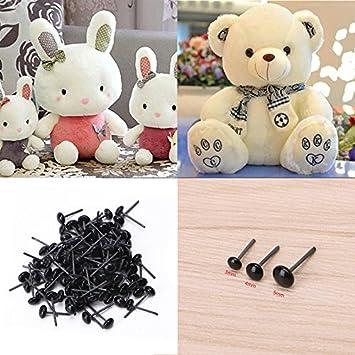 150 pair Black Glass Safety Eyes For Teddy Bear//Dolls//Toy Animal//Felting 2//3//4mm
