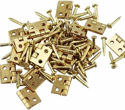 20pcs pure copper hinge hinge for furniture house miniature furniture metal