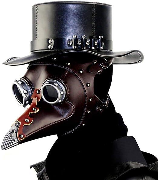 Máscara punk, máscara de Halloween, nariz gótica de pájaro, pico ...