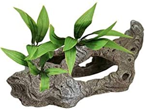 Exotic Environments Rock Tunnels with Silk Style Plants