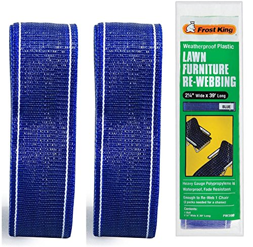 Thermwell Prods. Co. PW39B 39' Webbing- Blue - 2 Pack by Thermwell