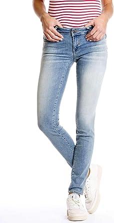 TALLA 24 - Longitud: 32 (Talla ES 34 - INT. XS). Meltin'Pot - Jeans Monie para Mujer, Ajuste Push up, Cintura Muy Baja