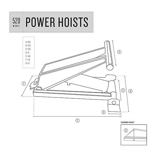 10 Ton 20 000 Lb Dump Trailer Hydraulic Scissor Hoist Hoist Only