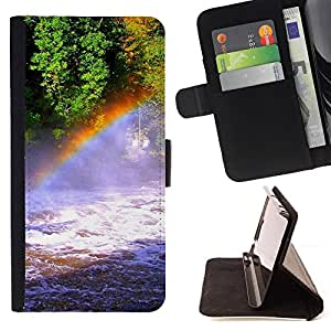 Jordan Colourful Shop - Nature Rainbow Falls For Samsung Galaxy S4 IV I9500 - Leather Case Absorci???¡¯???€????€?????????&