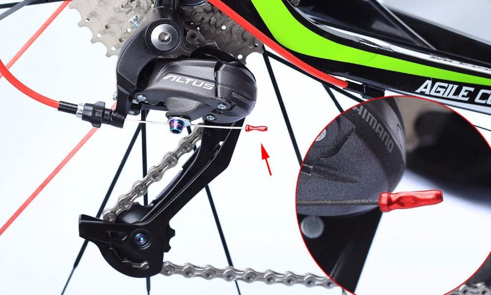 Bicycle Brake Cable End Caps Al Alloy Bike Shifter 50 Inner Pcs//set Cable E6Y0