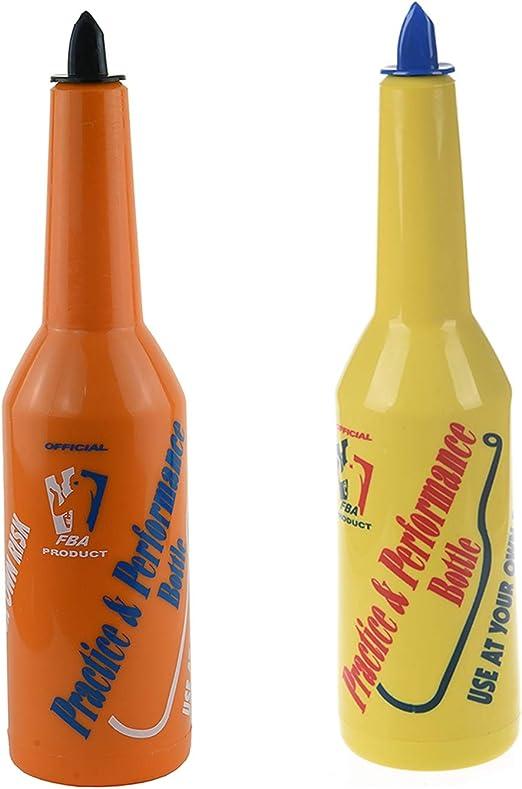 Yellow /& Orange Nrpfell 2x Flair Bartender Bartending Practice Bar Pub Bottle Wine Cocktail Shaker
