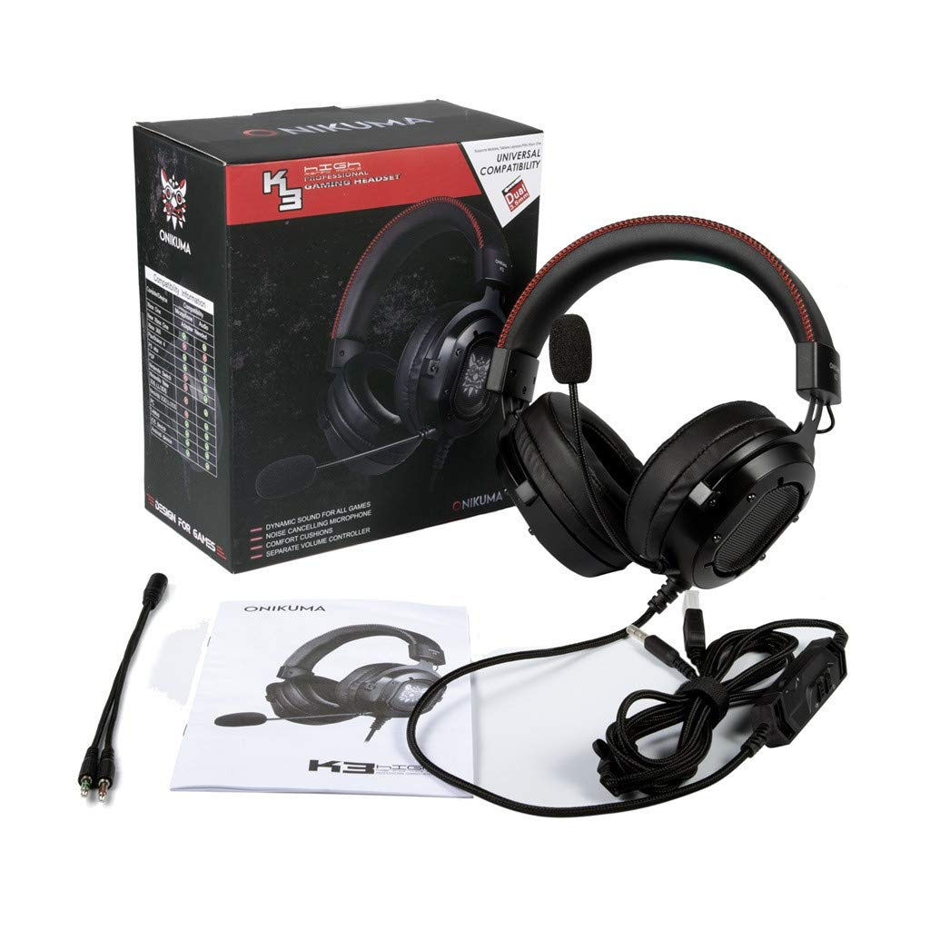 d866091bb8e Amazon.com: certainPL ONIKUMA K3 Gaming Headset for PS4 Xbox One, Stereo Gaming  Headset for PC Gamer, Noise Cancelling Wired Over-Ear Headphones with Mic  ...