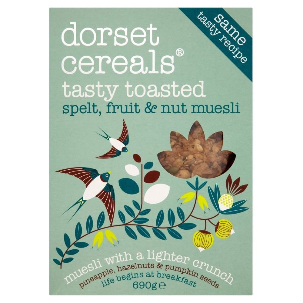 Dorset Cereals Tasty Toasted Spelt, Fruit & Nut Muesli (690g) - Pack of 6