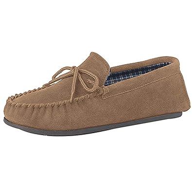 Mocasines para hombre de piel sintética con resistente suela en PVC suela, tallas de 40-48, color Beige, talla 47: Amazon.es: Zapatos y complementos