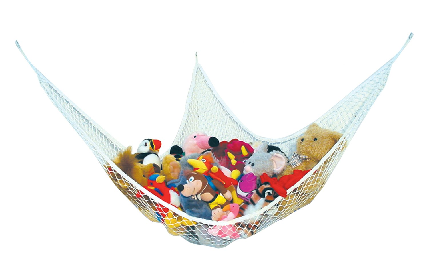 Best for keeping rooms clean Toy Organizer Storage Net is Durable and Easy to Install Enovoe 1 organized and clutter-free Comes with BONUS FREE E-Book Stuffed Animal Toy Hammock