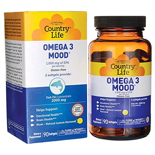 Country Life - Omega 3 Mood, with EPA and Fish Oil Concentrate - 90 Softgels by Country Life