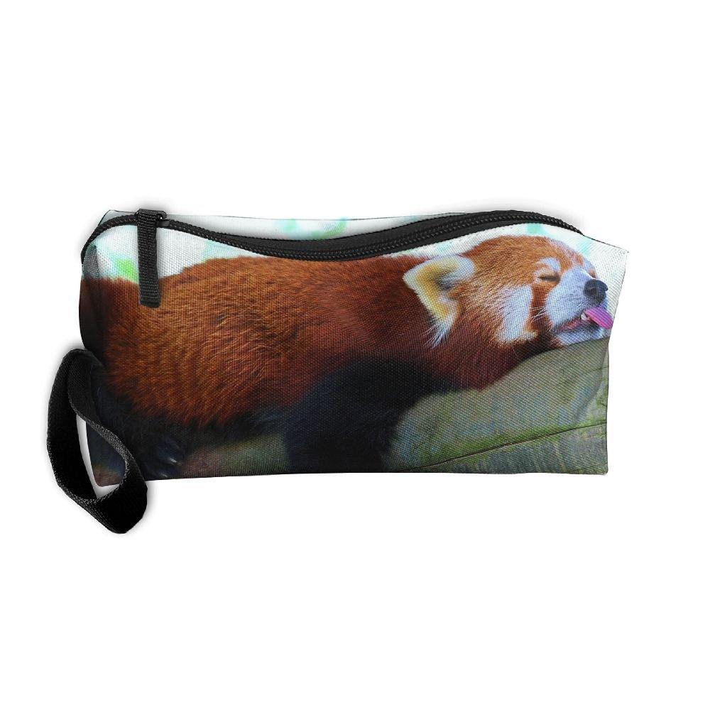 homlifeポータブルトラベルコスメティックToiletryクラッチバッグオーガナイザーケースオックスフォードLesser Panda Rest Sleep Loveストレージポーチ B07DZX51Y8