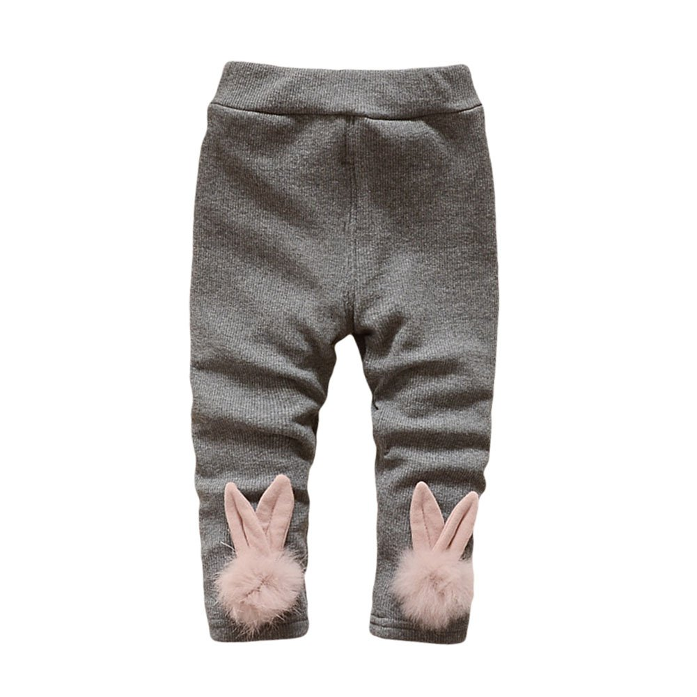 LOSORN ZPY Toddler Baby Girl Fleece Lined Legging Tights Pants Kid Warm Leggings 0-3t