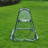 porayhut PORAY Sports 2018 Clear PVC Greenhouse Cover Flower House Mini Gardening Plant Flower Pop Up Tent,Backyard Greenhouse Cover for Cold Frost Protector Gardening Plants