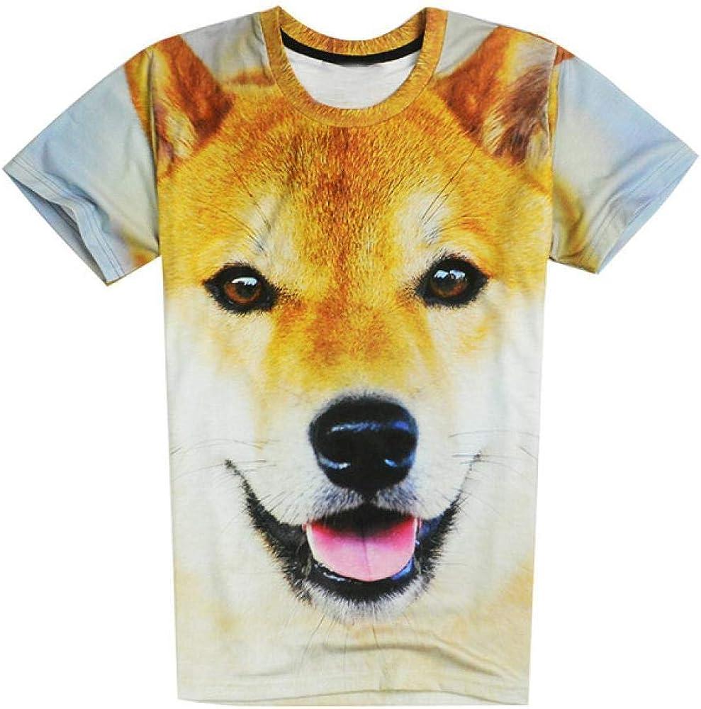 Harajuku Mujeres/Hombres Funny Head Doge 3D Camiseta de Manga Corta Deus God Dog/Shiba Inu Print Camisetas 3D Tops Tops de Gran tamaño: Amazon.es: Ropa y accesorios