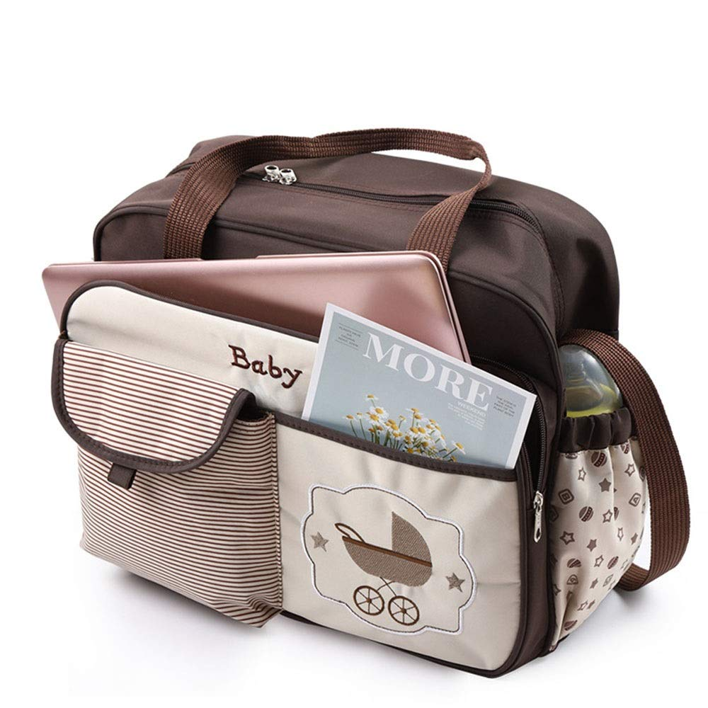 Stroller Organizer Baby Stroller Organizer Bag for Mom Also Converts to A Stylish Shoulder Bag Waterproof Diaper Bag with Changing Pad for Mom Fits All Baby Stroller Models Parents Stroller Organizer by DHUYUN (Image #5)