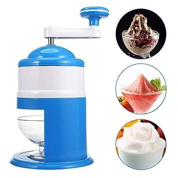 Picadora de hielo, manillar doméstico, manual, mini batidora de hielo para el hogar, cocina, etc.: Amazon.es: Hogar