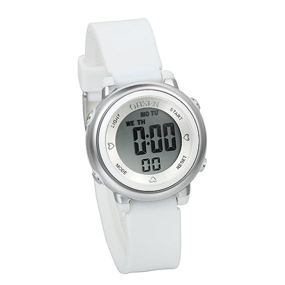 Avaner Reloj para Niños Digital Reloj Deportivo Digital para Aire Libre, Blanco Reloj Infantil De Colores, Niña Reloj Pequeño 5ATM A Prueba de Agua, ...