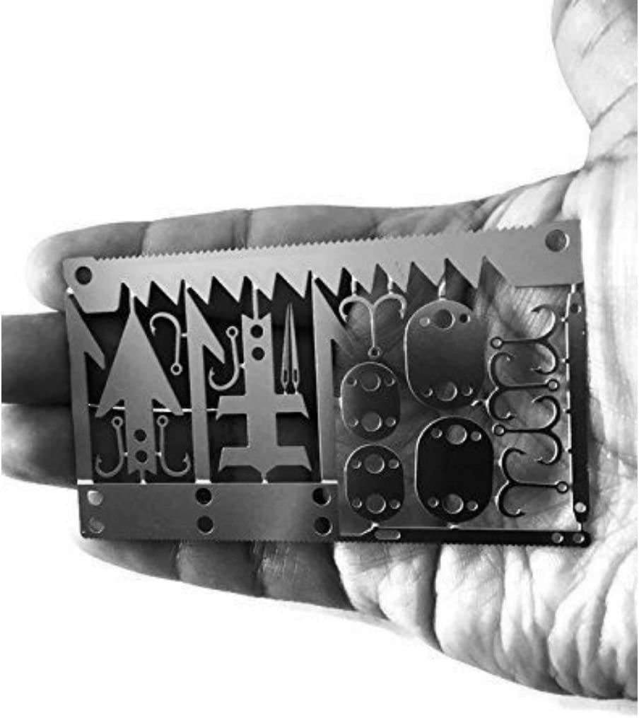 1set Multi Tools Card Survival Wallet Sized Camping Hiking Emergency EDC GeaODDE