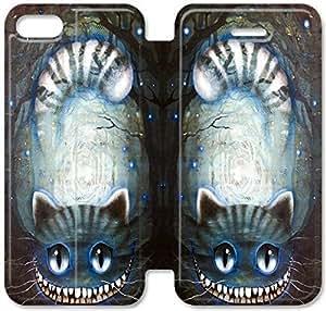 AICE EN WONDERAND gato de Cheshire Encargo Tirón Caja funda Para iPhone 5 5s funda , iPhone 5 5s Case - KHOOOFOFA6179