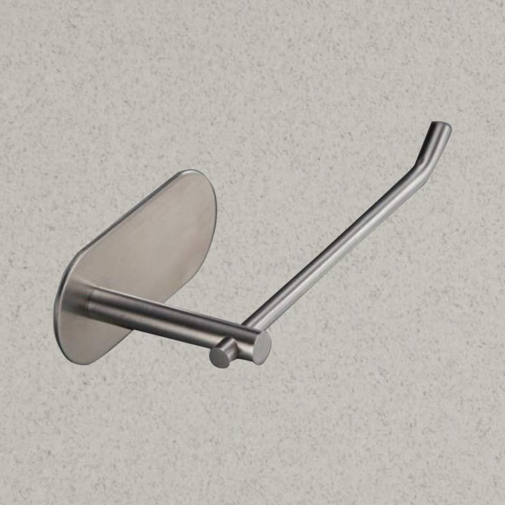 TOPBATHY Self-adhesive Towel Bar 304 Stainless Steel Towel Rack Dish Rug Holder 23x6.5x4.5cm