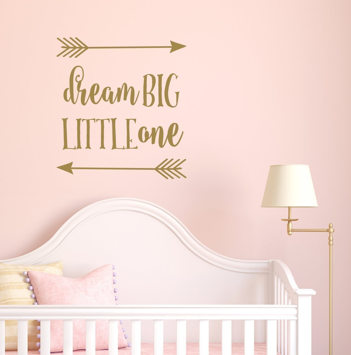 Amazon dream big little one wall decal pink and gold nursery amazon dream big little one wall decal pink and gold nursery rustic nursery decor handmade amipublicfo Images