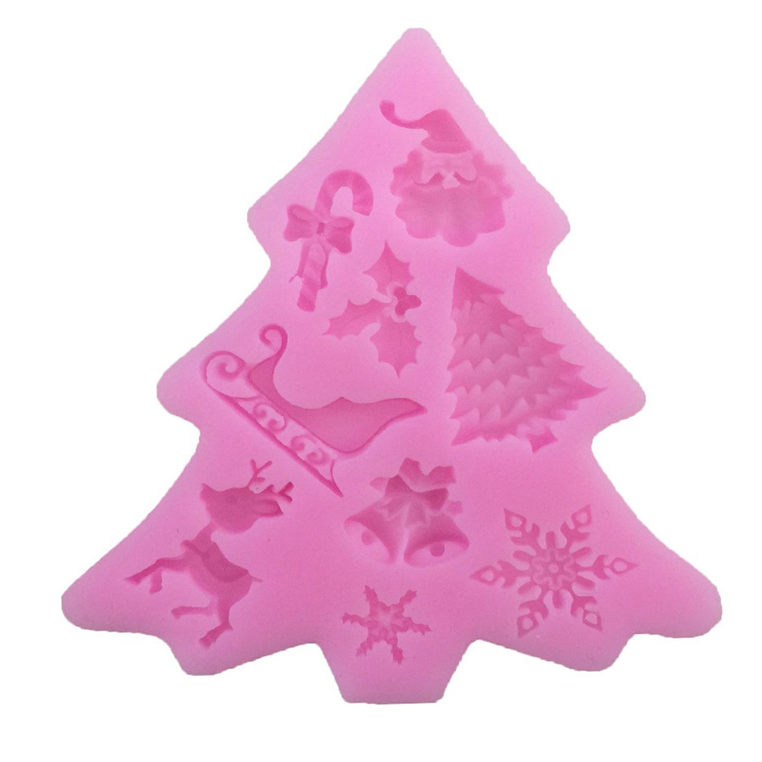 joyliveCY Christmas Decorating Cake Candy Fondant Silicone Mould CY-Buity