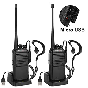 2x Radioddity GA-2S UHF 400-470MHz Auto-Scan 1500mAh CTCSS/DCS Two way Radio US