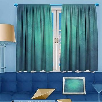 Amazon Com Prunus Blackout Curtain Light Blue Abstract