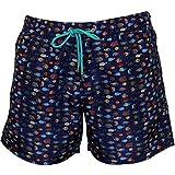 Paul Smith Men's Fishes Print Swim Shorts, Navy/Multi Medium Navy/Multi