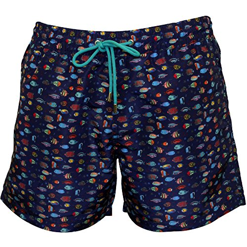 Paul Smith Men's Fishes Print Swim Shorts, Navy/Multi Medium Navy/Multi by Paul Smith