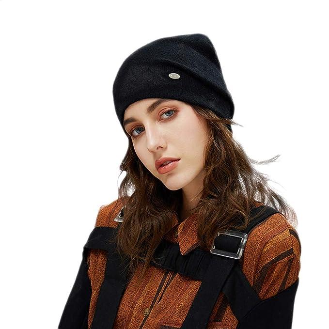 cf310db1a64 MOSNOW Beanies Rabbit Hair Winter Hats for Women Casual Autumn Knitted  Beanie Girls Wool Hat (