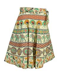 India Spring Summer Clothing Wrap Skirt for Women