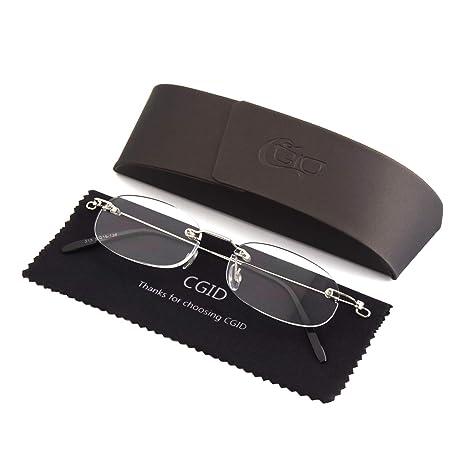 10c5cb8af5 CGID Lentes de aumento Ligeros Diseño Unisex para Hombre y Mujer elaborado  con resina Estilo oval