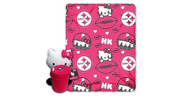 74124cfc Amazon.com : Northwest Pittsburgh Steelers Nfl Hello Kitty With Throw Combo  : Beauty