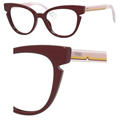 34a712d2e2d Image Unavailable. Image not available for. Color  FENDI Eyeglasses 0134  0N7F Burgundy Crystal 50MM