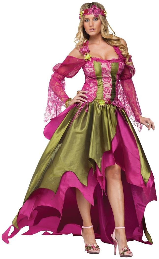 Fun World Rennaisaince Nymph, Pink/Green, Large 14-16 Costume