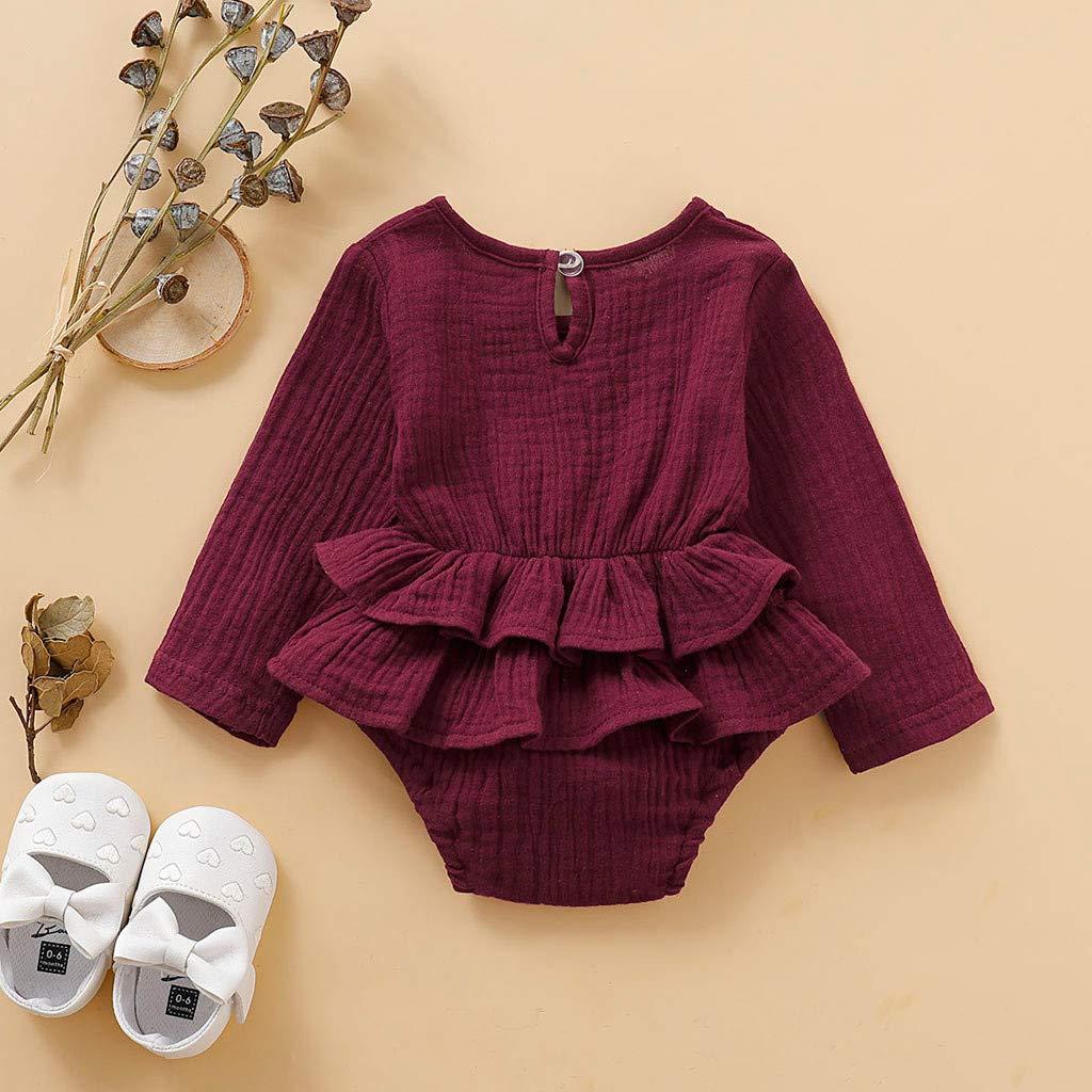 3-18 MonthsNewborn Infant Baby Boys Girls Cotton Romper Clothes Solid Bodysuit Jumpsuit One-Piece