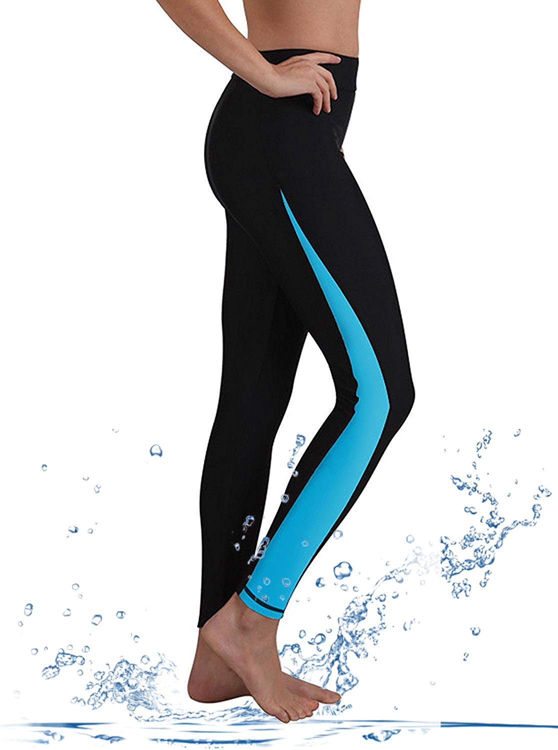 GEEK LIGHTING Womens Wetsuit Pants UV Protective Surfing Board Diving Canoe Pants Aqua Small