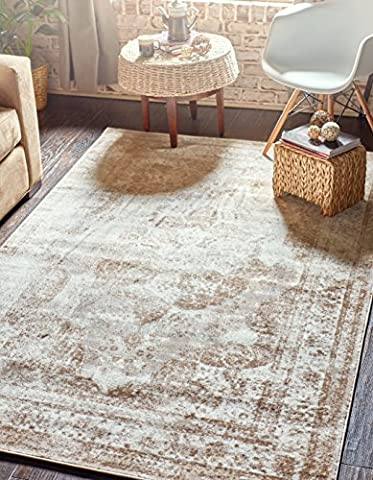 Unique Loom 3134075 Sofia Collection 8 Feet (8' x) Traditional Oriental Distressed Vintage Area Rug, 8 x 10, (Area Rugs 8x10 Modern)