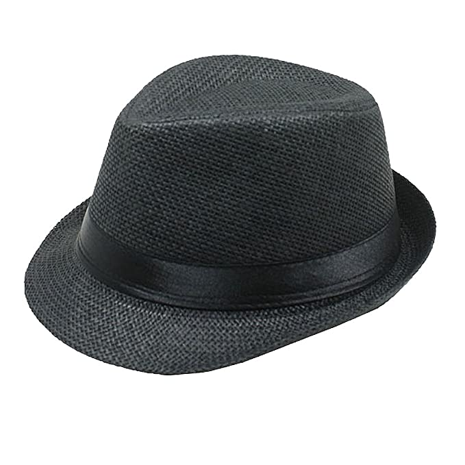 97c6784be7a25 Amazon.com  Bello Giovane Boys and Girls Woven Fedora Hat (One Size ...