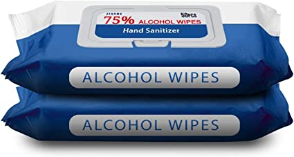 ordenador hogar tel/éfono m/óvil juguetes Movek 5 paquetes//50 toallitas de alcohol 75/% toallitas h/úmedas grandes para limpiar manos oficina