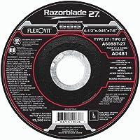 Flexovit A0481 4-1/2 X .045 X 7/8 Type 27 A60Sst Cut-Off Wheel (25 Pack)