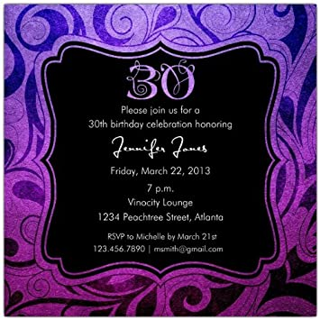 Image Unavailable Not Available For Color Brilliant Emblem 30Th Birthday Party Invitations