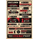 Fight Club The Rules Typography Movie Poster (24 x 36 inches)