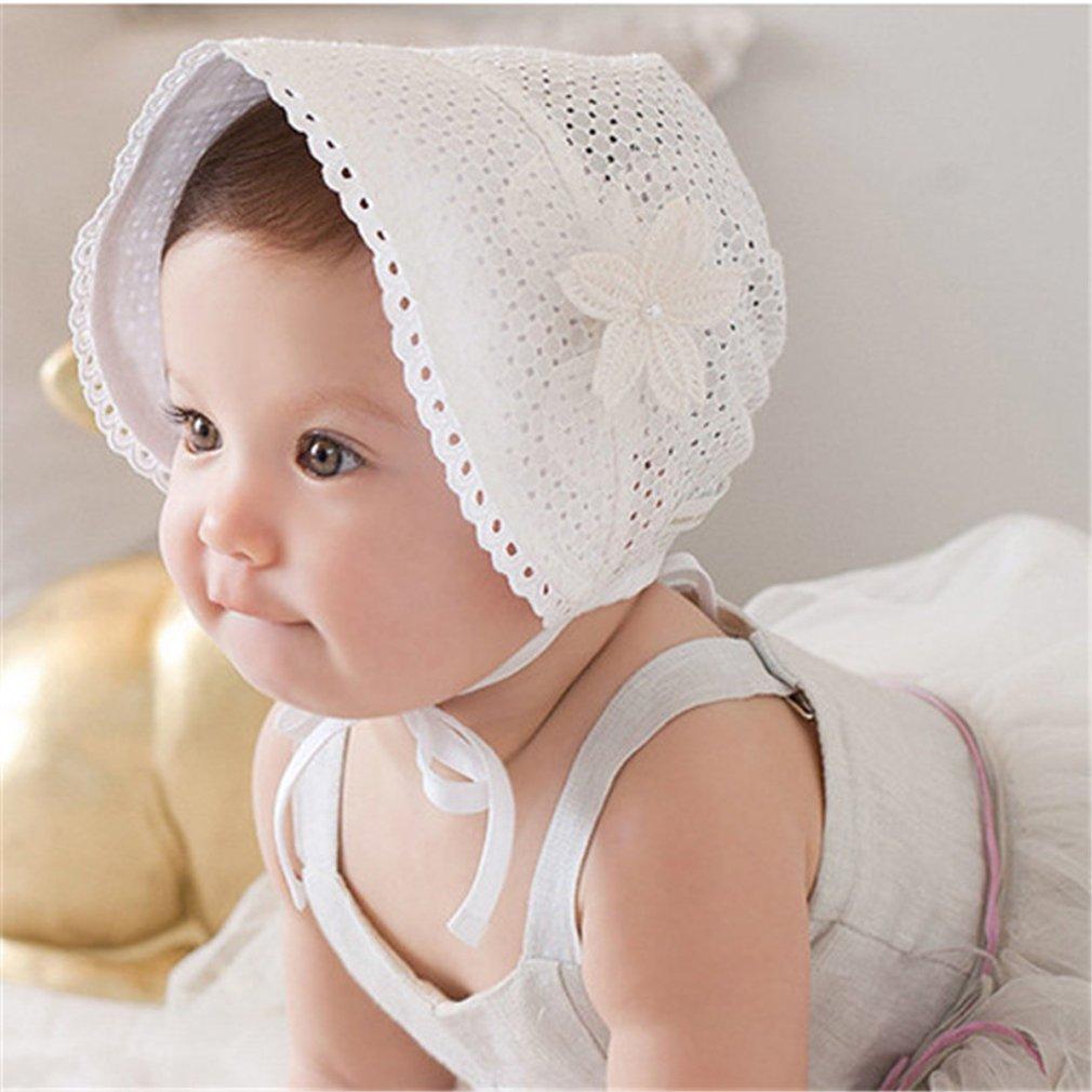 03724f2bf663 Chapeau de Soleil Maille de Fleur à Perle Bébé Unisexe Enfant Bonnet à  Nouer d été Photographie Fille et Garçon  Amazon.fr  Vêtements et  accessoires