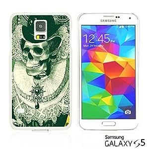 OnlineBestDigitalTM - Skull Pattern Hardback Case for Samsung Galaxy S5 - Designed Black skull Illustration