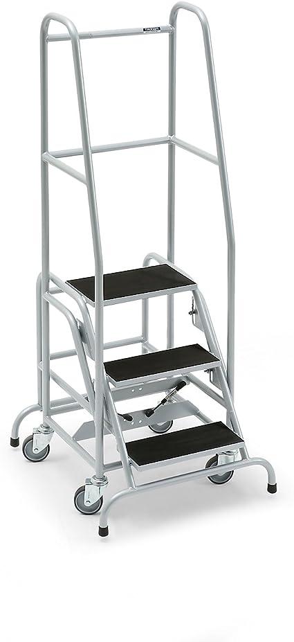 Mobile Escalera, con 3 niveles, goma – Nivel estriado Escaleras mobile Plataforma Escaleras llevado ayudas Nivel Escaleras mobile Plataforma Escaleras llevado ayudas Nivel Escaleras mobile Plataforma Escaleras llevado ayudas: Amazon.es: Oficina y