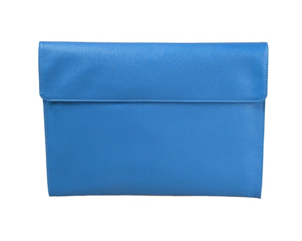 SAGEBROWN Cobalt Saffiano Envelope Folder