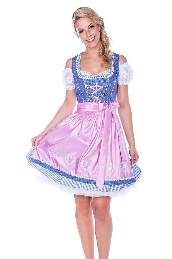 Krüger MADL Dirndl Sailor Dolly - Hellblau 50cm - Schönes Trachtenkleid für  Damen: Amazon.de: Bekleidung